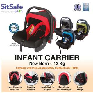 Sit safe baby car seat