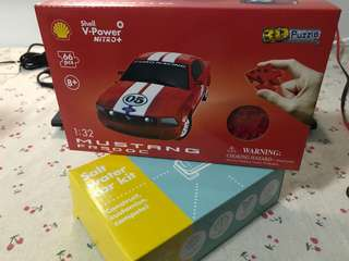 Mini Red Ford Mustang and Salt Water car kit