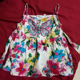 Butterfly Floral Top