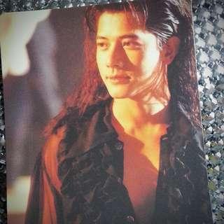 郭富城 Aaron Kwok 城城 香港樂壇「四大天王」之一勁歌熱舞代表 絕版 早期 明星幻彩咭 非 Yes Card