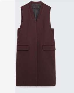 Zara Long Sleeveless Waistcoat
