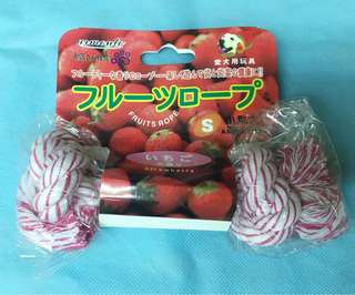 Dog rope chew toy (Small) Strawberry