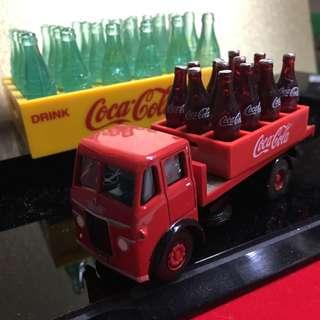可口可樂 微型汔水車連12枝連盤