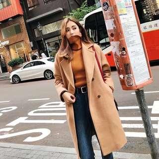 Korean style khaki / camel / light brown winter coat