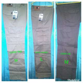 Celana cargo panjang