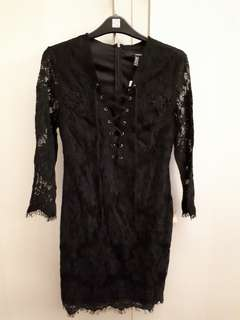 F21 Black lace dress
