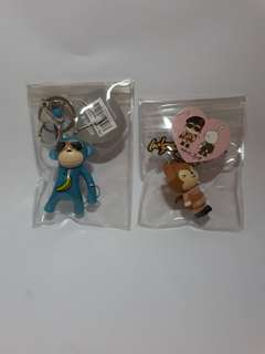 Korean keychains (blue monkey and DOTS)