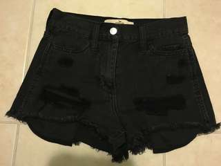high-rise destroyed shorts