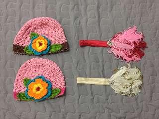 Baby crochet hat & headband