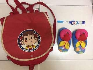 Set girl bag, watch & shoes