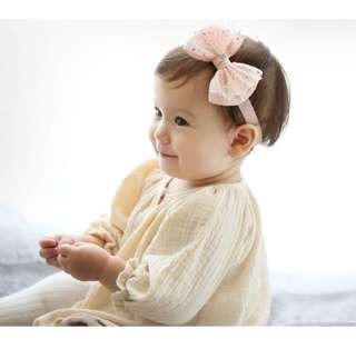 Baby big bow headband