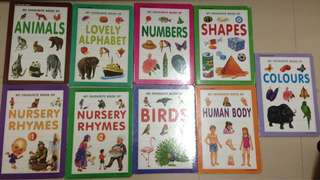 Educational children kids board book number letters animals
