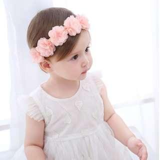 Flowers Headband (Pink)