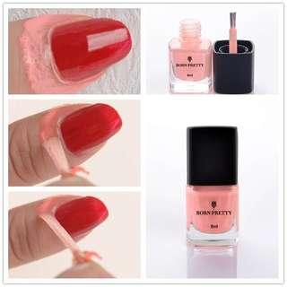 😍BORN PRETTY Liquid Tape & Peel Off Nail Art Latex Cuticle Guard Palisade Stamper stamping stamp nail art paint Gelish Gel 6ML