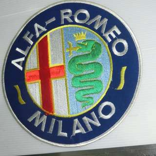 NOS mint sealed in bag HUGE ALFA RIOME licensed  authentic Sew/patch on.Hi qualty fabric,no coclor fades,dead  mint one & only