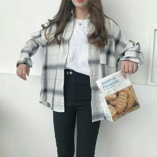 PO: Monochrome Flannel Top