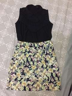 Lacey Top and Floral Skirt