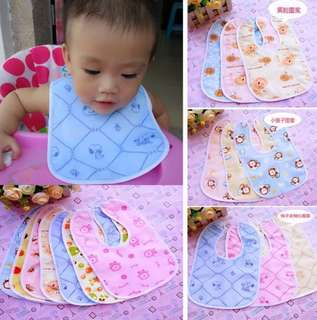 5 pieces Baby Bib drool bibs