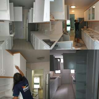 Paint kitchen cabinets and tabletop services.