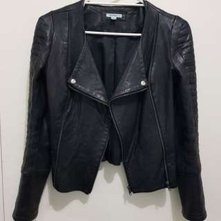 Kookai black leather jacket
