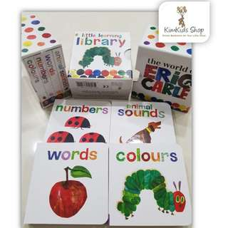 Little Learning Library book set by Eric Carle  (4 mini books set)