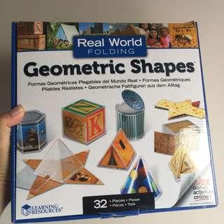 (包順豐站) 二手 Learning resources geometric shapes