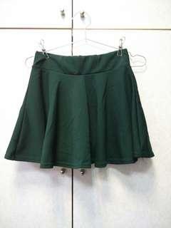 🚚 🎆墨綠色自帶安全褲 傘狀短裙