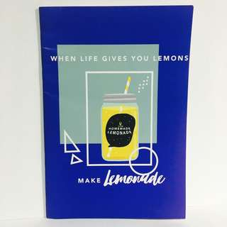 Notebook - When life gives you lemons, make lemonade!