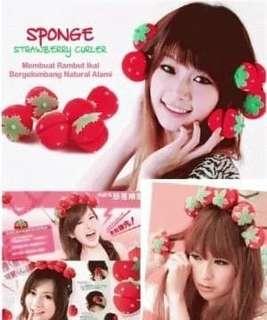 Strawberry Roll Sponge Hair Curler / Pengikal Rambut Tanpa Catok - 31661