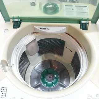 Panasonic 9.kg fully automatic washing machine 95%ok Good condition one month warntey 01133530275 call me WhatsApp