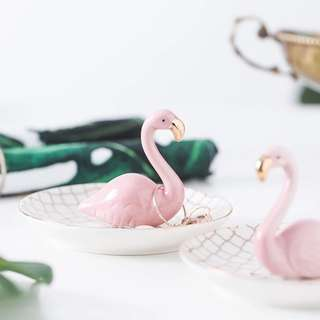 Flamingo Gold Trinket Dish