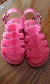 Mini Melissa pink sandals for kids