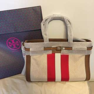 Authentic Tory Burch canvas bag