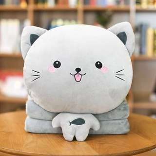 3 In 1 Cat Cushion, Blanket And Hand Warmer