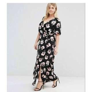 Plus Size Flora Overlap Dress - COD