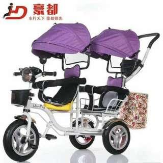 4n1 twin stroller bike