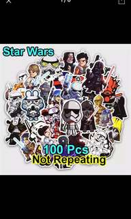 Star Wars Decal Sticker Vinyl material 100 pieces lot