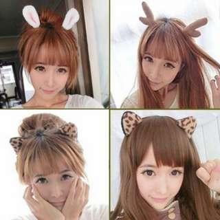 ☆ 批發☆《E1-0006》特價* 小鹿角頭飾 貓耳、兔耳 可愛造型頭飾 髮圈 髮箍