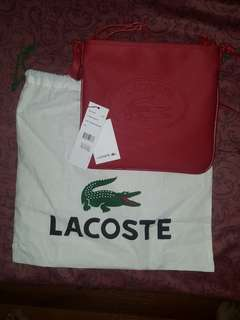 BNEW Authentic Lacoste Flat Crossover Bag