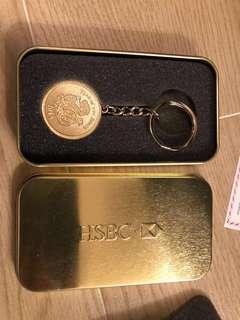 滙丰2013蛇年匙扣礼盒装包平郵