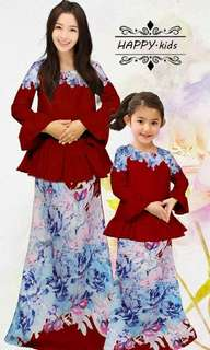 Peplum Minaz Set Mom&Daughter