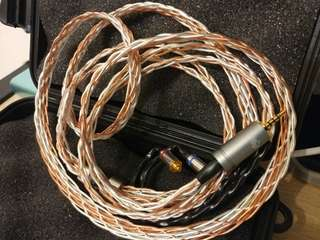 8絞冷涷7N單晶銅 銀銅混織 Astell & kern 2.5mm平衡頭 mmcx for campfire Andromeda fender shure westone w80  14對話出價
