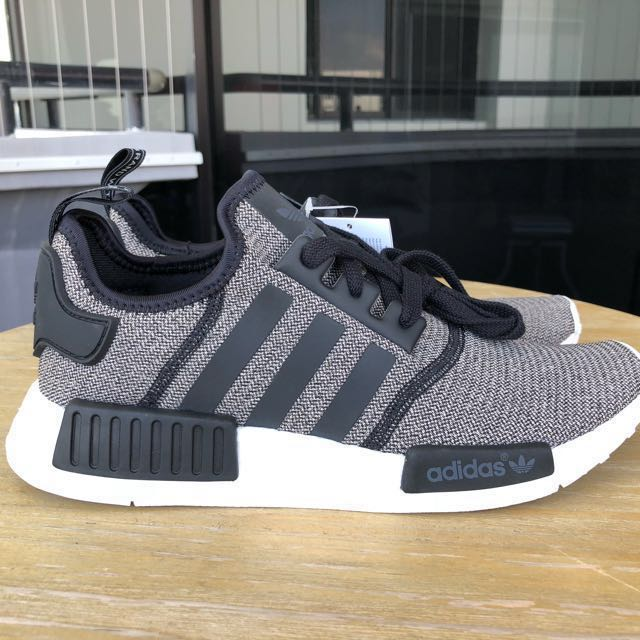 b8674fbec8e61 Adidas NMD R1 Grey and Black UK 7   US 8.5 Women   US 7.5 Men