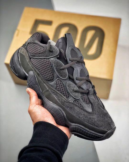 "online store 6e706 14e9f Adidas Yeezy 500 Desert Rat ""Utility Black"""