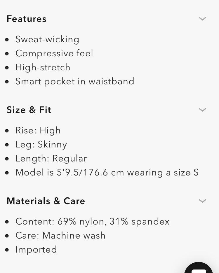 Aritzia The Constant Twyla Pant leggings