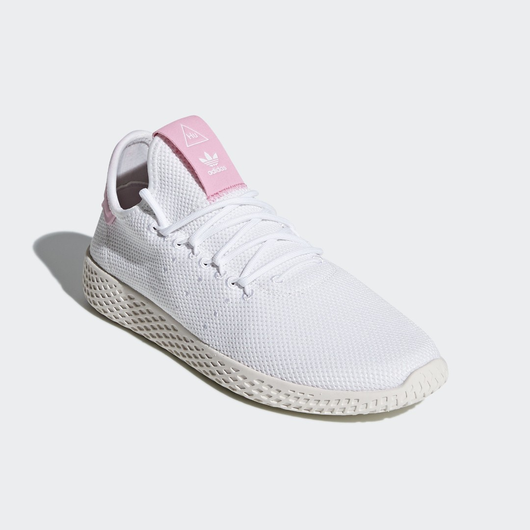 ef029d6ad Authentic ADIDAS Pharrell Williams TENNIS Human Race W Pink   White ...
