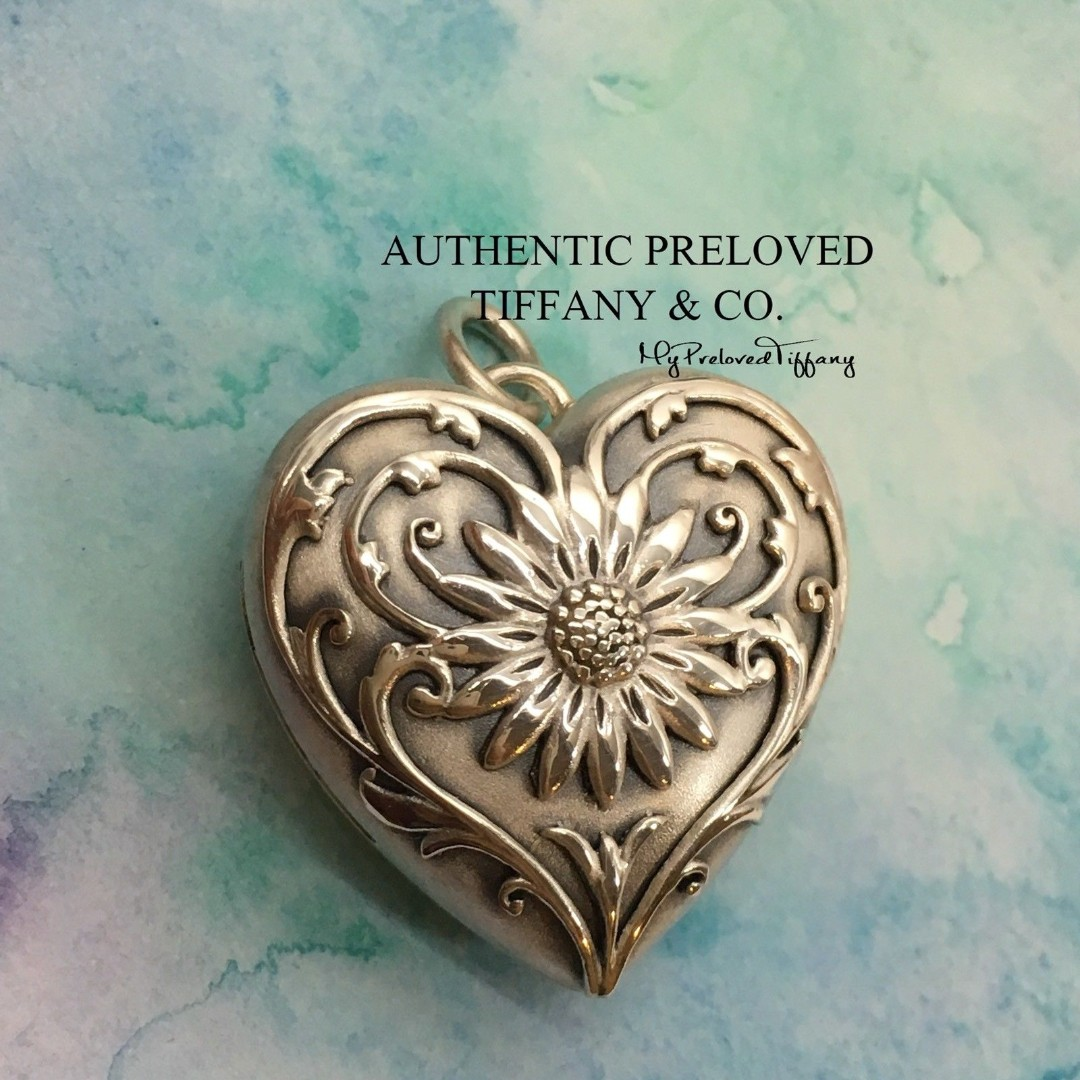 c2f15a0c2d2a Authentic Excellent Tiffany & Co Ziegfeld Daisy Heart Locket Medium Silver,  Women's Fashion, Jewellery on Carousell