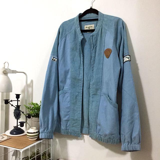 Billabong Blue Vintage Style Corduroy Jacket Jumper
