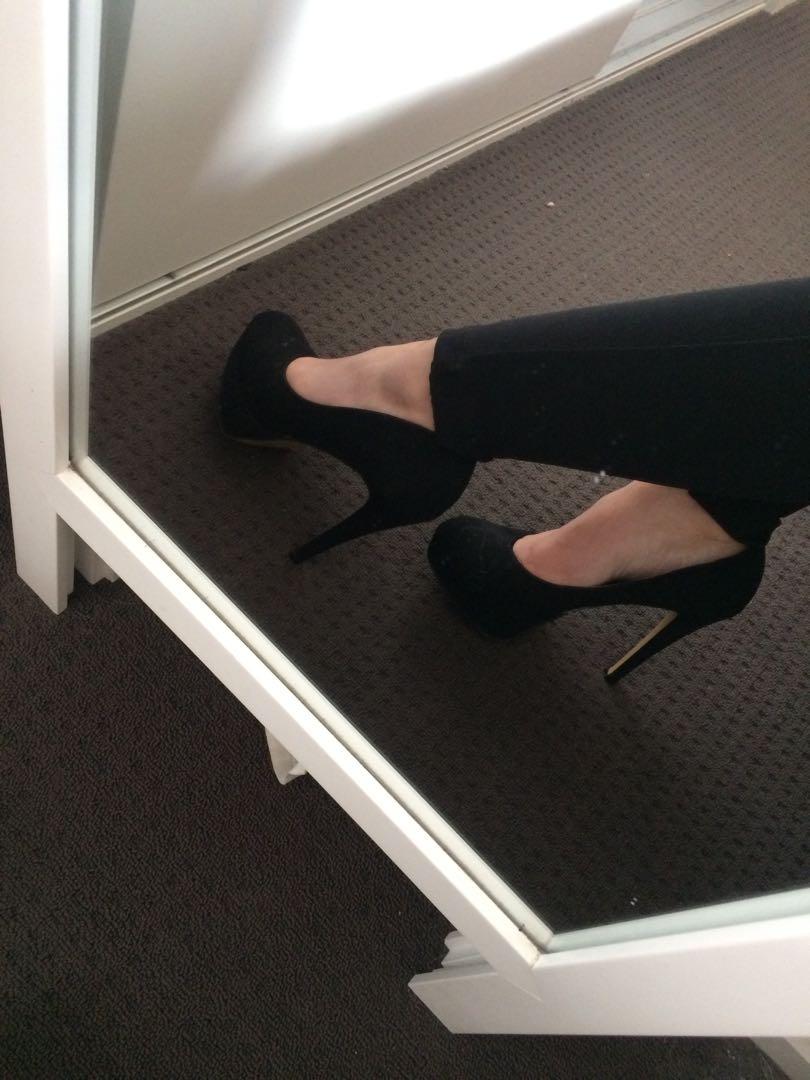 Black famous footwear shoes