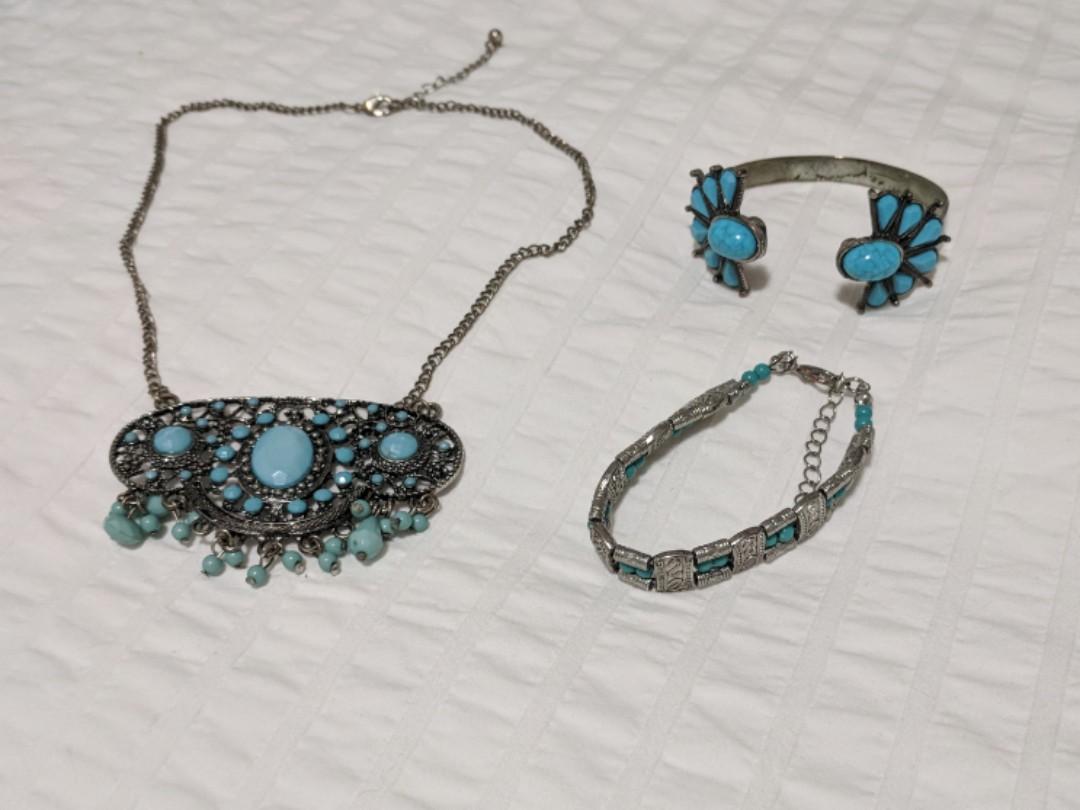 Boho turquoise costume jewelry